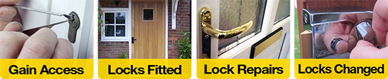Gain Access, Locks Fitted, Lock Repairs, Locks Changed